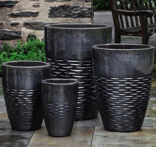 Glazed Tall Hyphen Planter Set of Four
