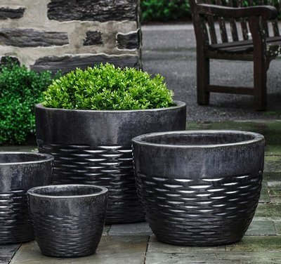 Glazed Hyphen Planter Set of Four