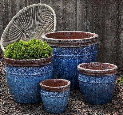 Glazed Montserrat Planter Set of Four