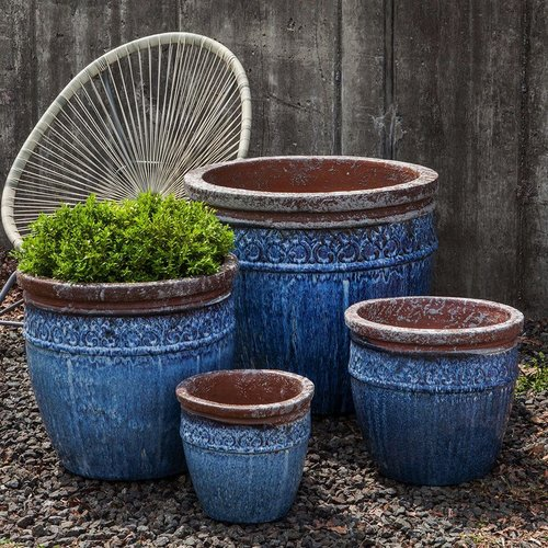 Glazed Montserrat Planter Set of Four