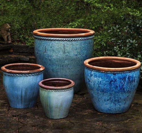 Glazed Chandor Planter Set of Four