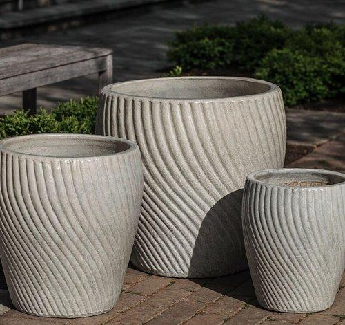 Glazed Vortex Planter Set of Three