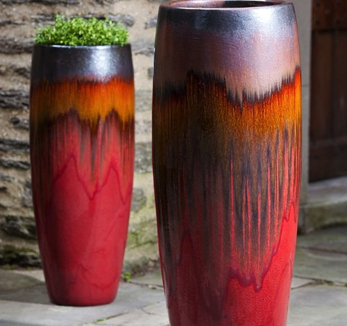 Glazed Sabine Tall Planter