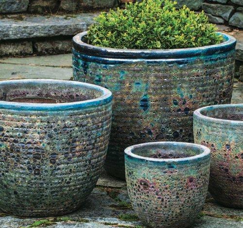 Glazed Aspara Planter Set of Four