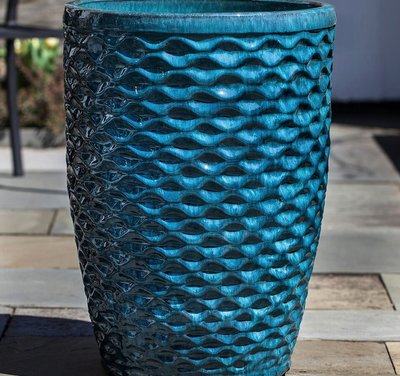 Glazed Tall Honeycomb Planter Set of Four