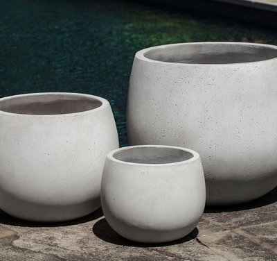 Fiberglass Sandos Planter Set of Three