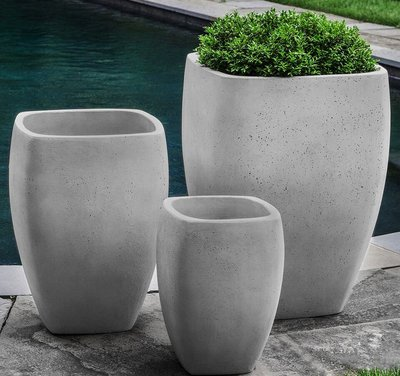 Fiberglass Cedros Planter Set of Three