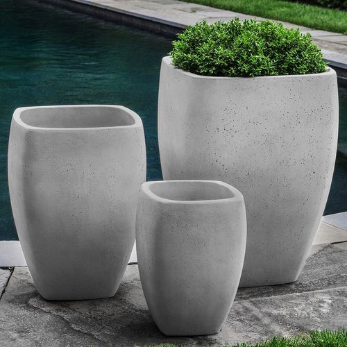 Fiberglass Cedros Planter Set of Three