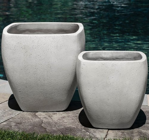 Fiberglass Tecate Planter Set of Two