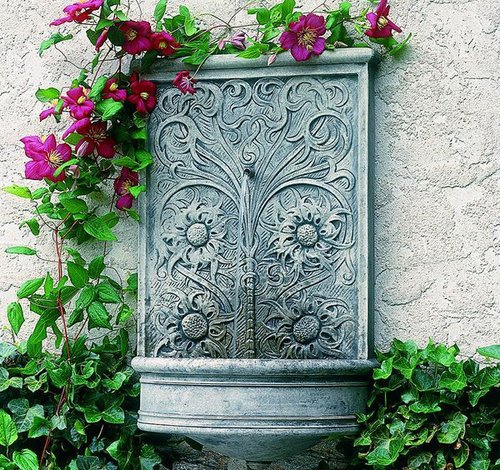 Cast Stone Sussex Wall Fountain
