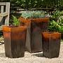 Glazed Borneo Planter Set of Three
