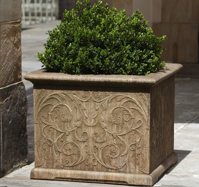 Cast Stone Arabesque Square Planter