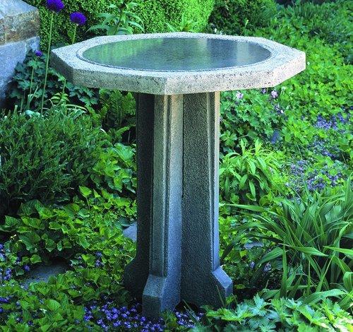 Cast Stone Pine Meadow Birdbath