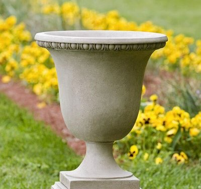 Cast Stone Williamsburg Egg & Dart Urn