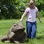 Cast Stone Giant Garden Frog