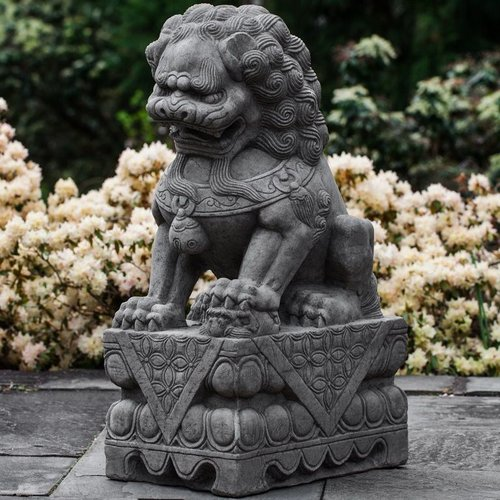 Cast Stone Garden Foo Dog