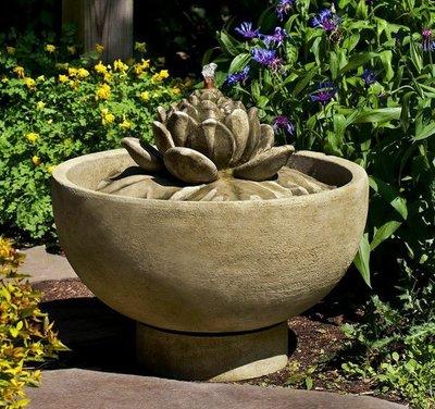 Cast Stone Smithsonian Lotus Fountain