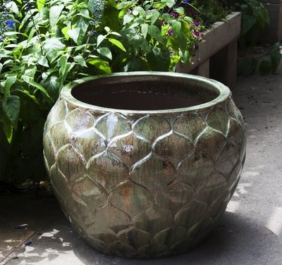 Glazed Artichoke Planter