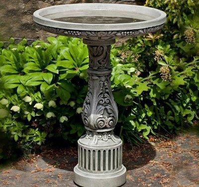 Cast Stone Smithsonian Cottage Garden Birdbath
