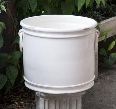 Italian Ceramics Antique White Planter