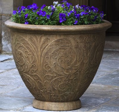 Cast Stone Arabesque Round Planter
