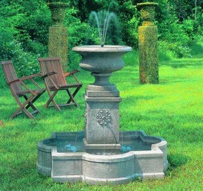 Cast Stone Palazzo Urn Fountain