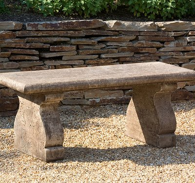 Cast Stone Provencal Bench