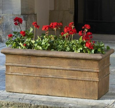 Cast Stone Classic Rolled Rim Window Box