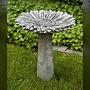 Cast Stone Sunflower Birdbath