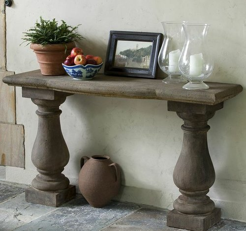 Cast Stone Vicenza Console Table