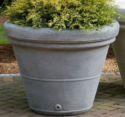 Cast Stone Estate Rolled Rim Planter