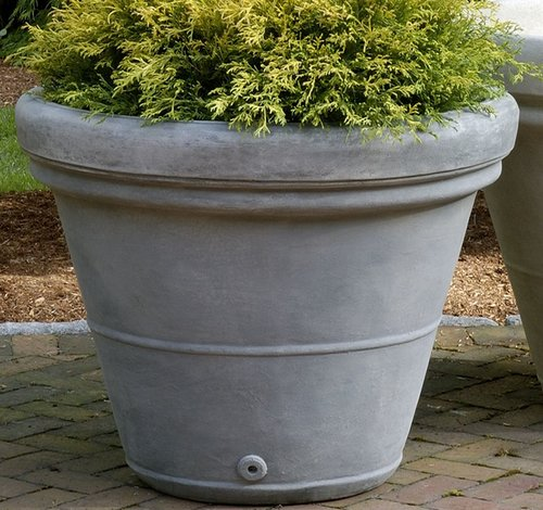 Cast Stone Estate Rolled Rim Planter