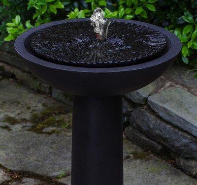 Cast Stone Equinox Birdbath Fountain