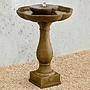 Cast Stone Flores Pedestal Fountain