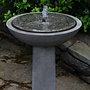 Cast Stone Hydrangea Leaves Birdbath Fountain