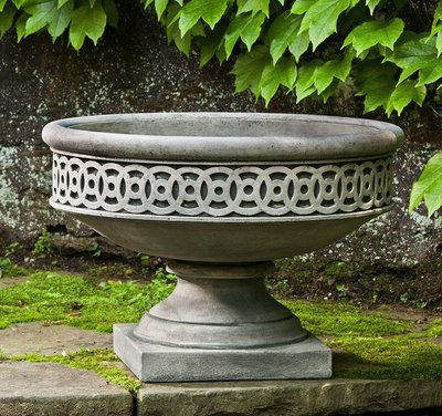 Cast Stone Williamsburg Low Fretwork Urn