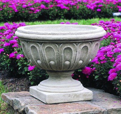 Cast Stone Longwood Fluted Urn