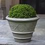 Cast Stone Arabesque Rolled Rim Planter