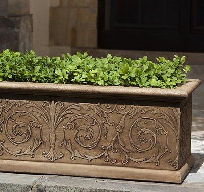 Cast Stone Arabesque Window Box