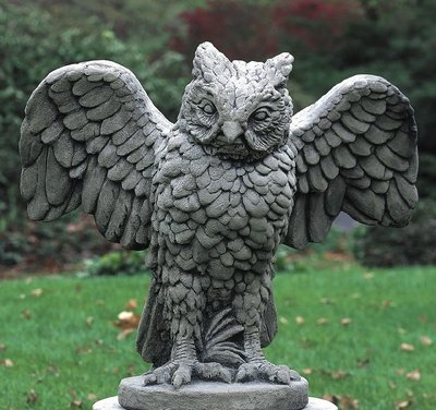 Cast Stone Soaring Owl