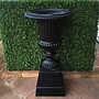 Cast Iron Classic Ribbed Urn