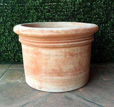 Italian Terracotta Vaso Tondo Liscio