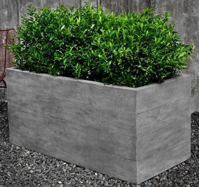 Cast Stone Chenes Brut Long Box Planter