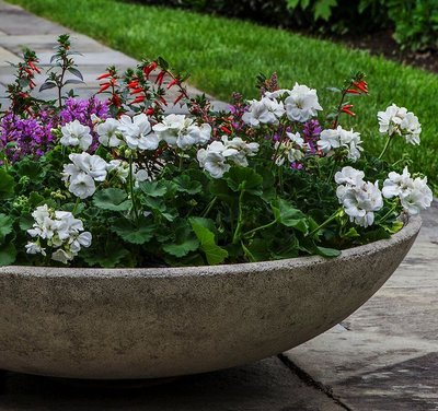 Cast Stone Textured Zen Bowl