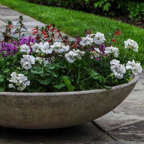 Cast Stone Textured Zen Bowl