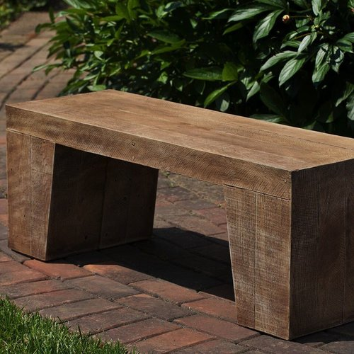 Cast Stone Barn Board Bench