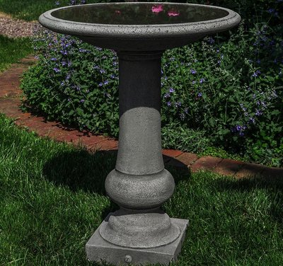 Cast Stone Williamsburg Boxwood Garden Birdbath