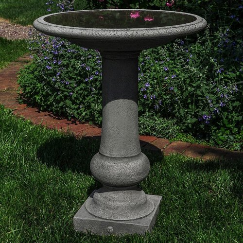 Cast Stone Williamsburg Boxwood Garden Birdbath