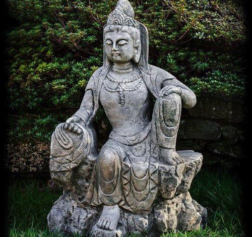 Cast Stone Raja Guan Yin