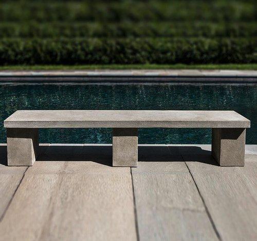 Cast Stone Biscayne Bench